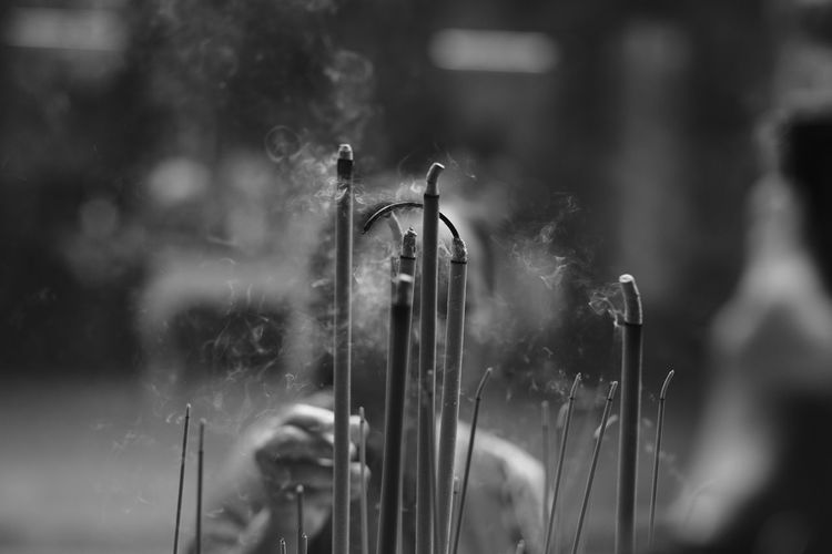 Close-Up Of Incense Sticks