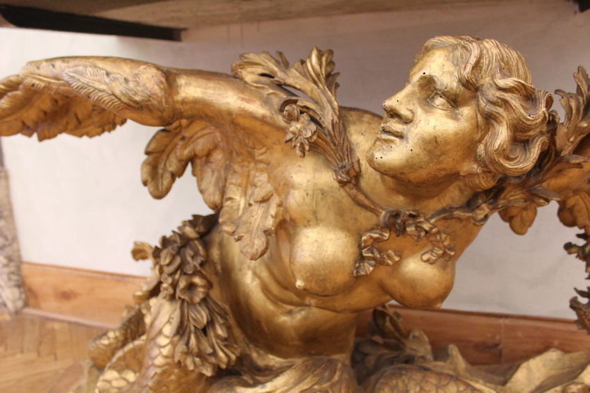 Angel Antique Architecture Art And Craft Belief Built Structure Close-up Craft Creativity Gold Colored History Human Representation Indoors  Male Likeness No People Old Ornate Religion Representation Sculpture Statue The Past