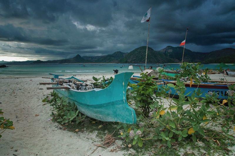 Showcase: January Boat Boats Selongbelanak Selong Belanak, Lombok Lombok Beach Cloudy
