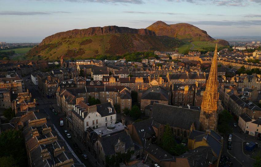 Edinburgh Arthurs Seat Sunset