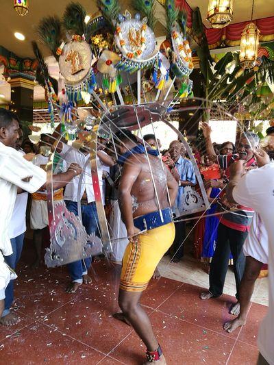Indian Culture  Traditional Clothing Celebration . Melaka .