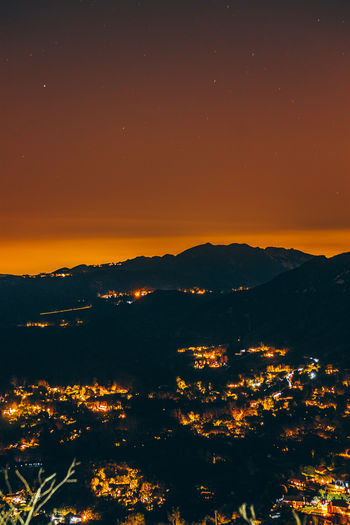Malibu Sky Nature No People Outdoors Orange Color Scenics - Nature Beauty In Nature Night Tranquility Sunset Mountain Environment Illuminated Tranquil Scene Silhouette Water Star - Space Landscape Cloud - Sky Architecture