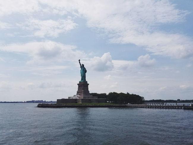 Lady Liberty Statue Female Likeness Travel Destinations Monument Travel History Architecture Patriotism Symbol Water Sculpture TheStatueofLiberty