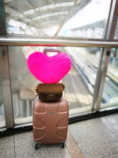 We live once.. so make it remarkable ... Luggage Travel Pink Color Suitcase Indoors  Busan,Korea Beach Summer Travel Destinations ParkHyattBusan Busan Trip Travel Pinkheart