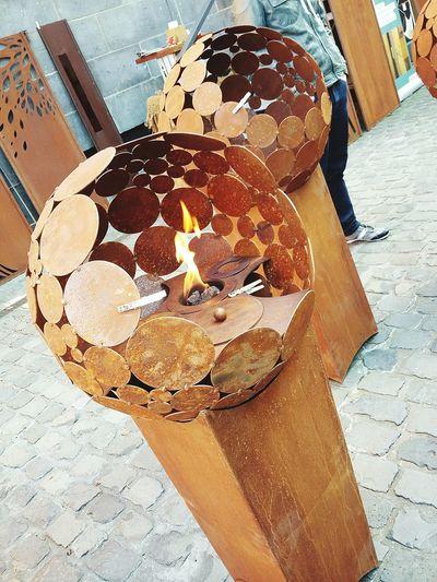 Fire Decoration Weeklymarket Flames Rust Iron Art Fireplace Skulptur ArtWork