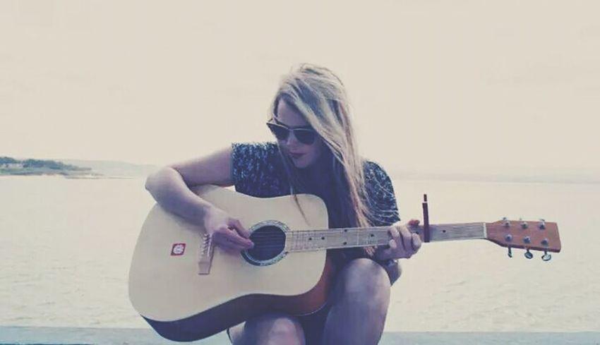 Playing Guitar Playing Music Ocean View