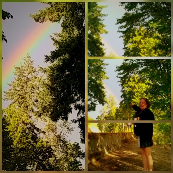 One Person Rainbow Outdoors Adults Only Sky Nature Kelso, Washington Toni Vossen, Pixtography Nature