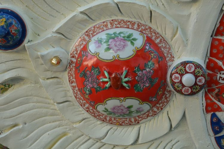 Line Thai Asian  With Ourdoor Indoors  Ornate History No People Pattern Red Day