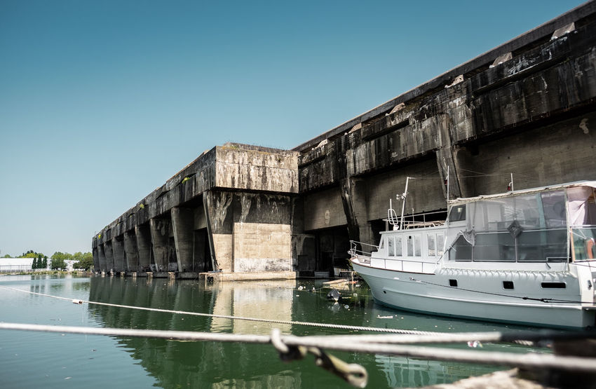 Old Submarine base of Bordeaux, France. Architecture Base Base Sous Marine Bordeaux Bordeaux Bunker City France Harbor Harbour Travel Travel Photography World War 2 Boat Fujifilm Fujifilm_xseries History Old Buildings Sea Ship Ships Street Street Photography Streetphotography Submarine Water