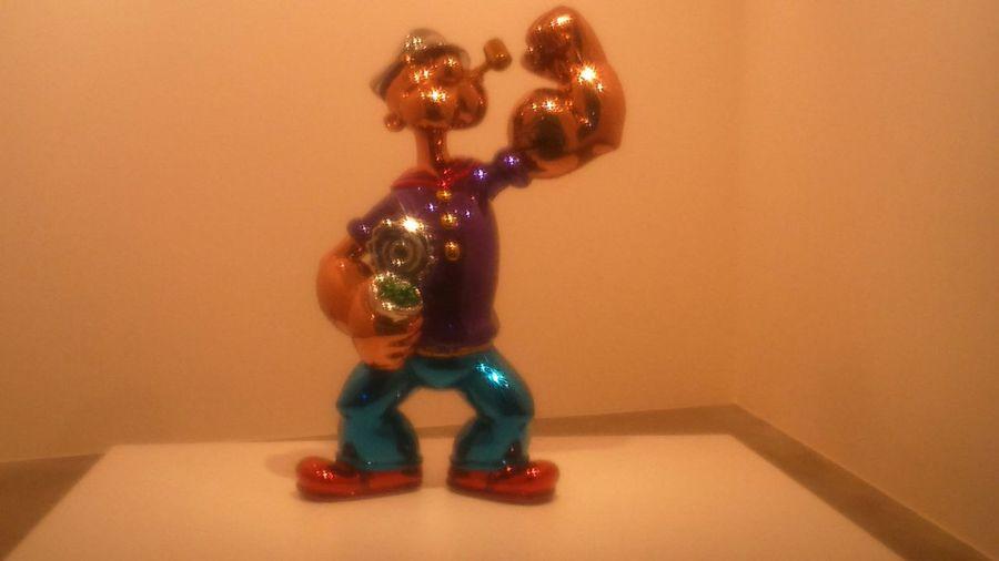 Jeff Koons Popeye Taking Photos Enjoying Life