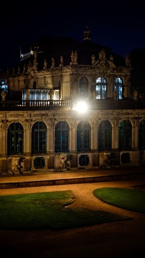 Zwinger Zwinger Dresden Dresden / Germany Night Illuminated Building Exterior Architecture Built Structure History The Past