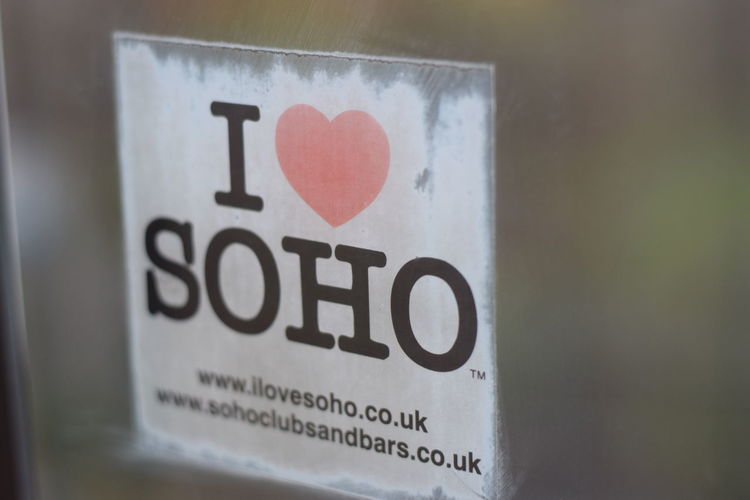 Bokeh Close-up Day I Heart So I Love Soho Love No People Soho Streetphotography Text Window View