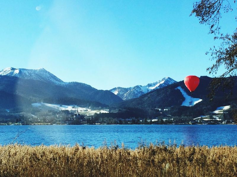 Feel The Journey Germany Heading To Austria Austria Alpen Alps Mountains Lake Lake View Tegernsee Heißluftballon Baloon Perfect Day Relax Silence Places You Must To See Fresh Air And Sunshine Nature Nature_collection Nature Photography