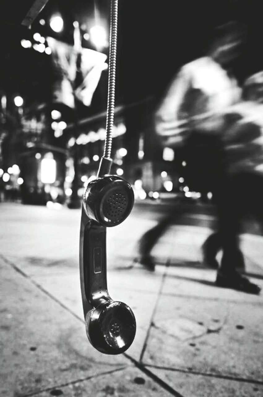 street, focus on foreground, close-up, night, illuminated, no people, outdoors, technology
