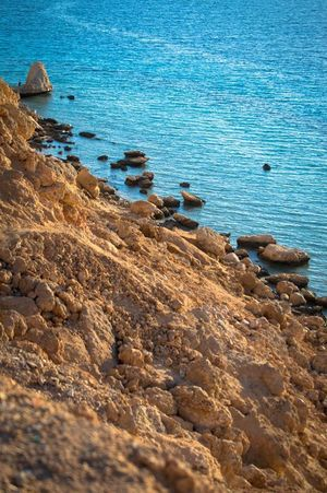 Sharm El-Sheikh Hello World Contrast Thisisegypt Peace RedSea Rocks Cliffside Kuomi Collection