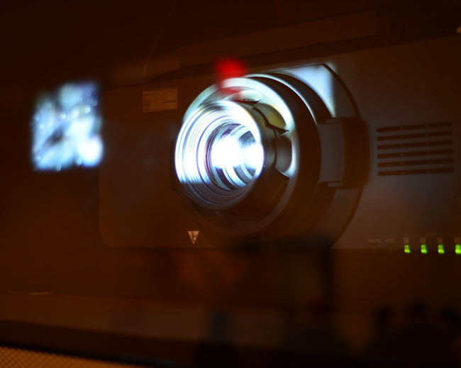 Close-up of projector