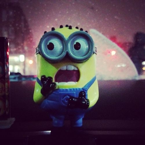 Even my minion is surprised with this weather ;)