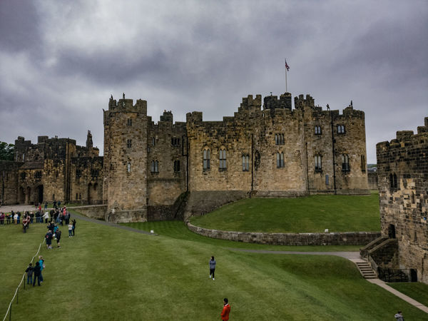 Architecture History Old Ruin Castle Built Structure Cloud - Sky Travel Destinations Building Exterior Sky Outdoors Day People Grass Ancient Civilization City Adult Alnwick Castle