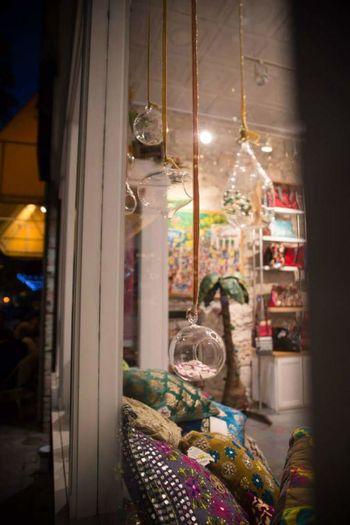 View of illuminated christmas lights