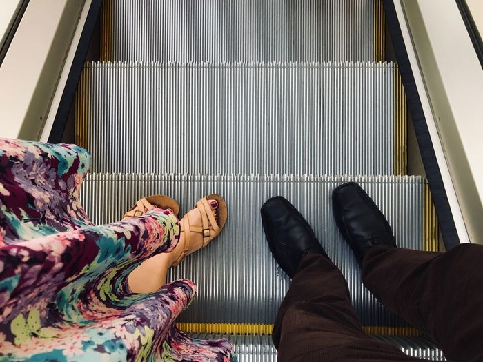 Down the escalator IPhone 7 Plus IPhone London Down EyeEm Selects Real Life Legs Underground Escalator Human Leg Shoe Low Section Body Part Human Body Part One Person Real People Human Foot High Angle View Indoors  A New Perspective On Life Human Connection It's About The Journey Humanity Meets Technology 17.62° International Women's Day 2019 Streetwise Photography Analogue Sound The Art Of Street Photography