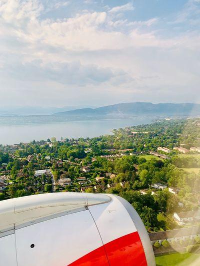 Landing to Geneva Water Sky Sea Cloud - Sky Nature Horizon Over Water The Mobile Photographer - 2019 EyeEm Awards Day Plant Transportation Mode Of Transportation