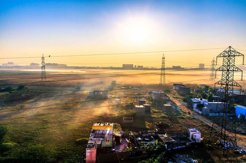 Diffracted thoughts! Sunrise Wetlands Chennai,India India Construction Sunshine Window View