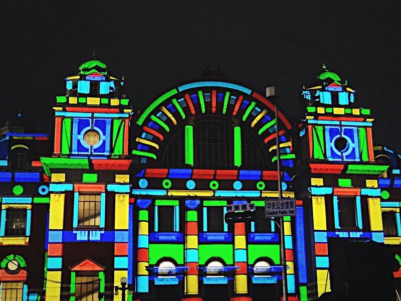 カラフルマッピング。 (12.22) Christmas Illumination Projection Mapping Light Night Lights