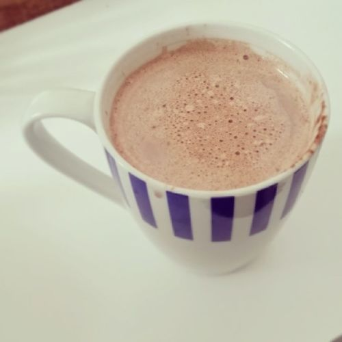 Mama's hot chocolate... not sure what she does to it but hers always tastes better... made with love I guess Ilovemymom