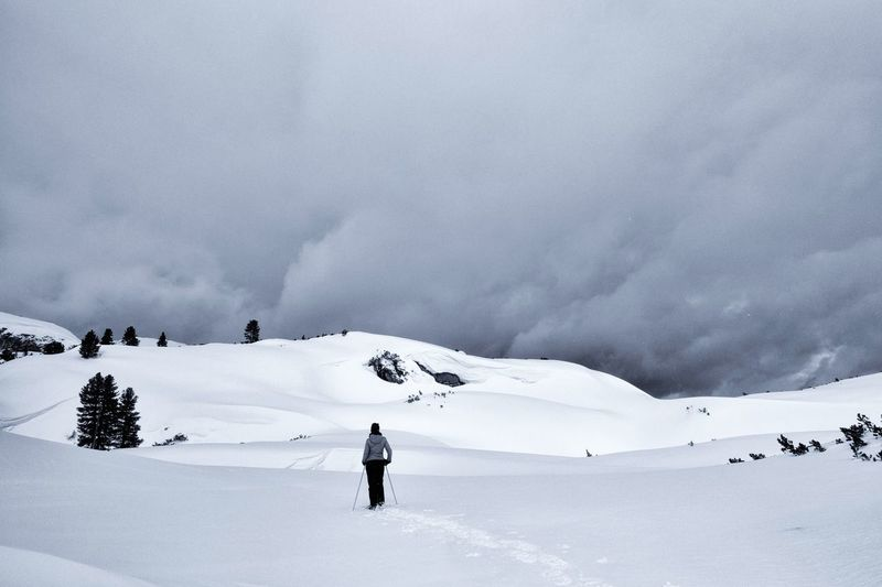 Out there... Snow Cold Temperature Winter Scenics - Nature Landscape Mountain Beauty In Nature Environment Leisure Activity Winter Sport Adventure Sport Trip Vacations One Person Lifestyles Snowcapped Mountain Mountain Range Unrecognizable Person