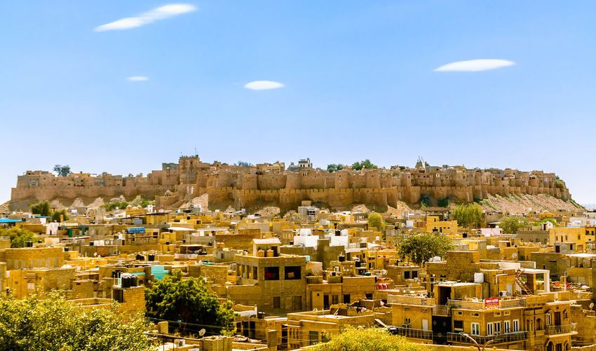 Jaisalmer Fort, Rajasthan, India Building Exterior Architecture Built Structure Building Sky Nature Outdoors City Aerial View Ancient Ancient Architecture Breathtaking View Cityscape Desert Fort Rajasthan Living Fort Historical Building Hilltop Landmark Tourist Attraction  Maharaja Rajput Sandstone Travel Destinations Urban Yellow My Best Photo