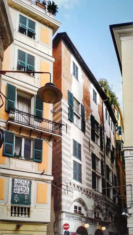 """ Caroggi of Genoa - another photo of the series"". Palazzi Palazzi Dei Rolli Palaces Facades Historical Center Centro Storico Di Genova Narrow Streets Alleyways Downtown Genova ♥ Genova"