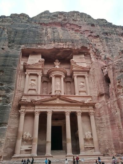 Petra ! Ancient Civilization City Place Of Worship Statue Old Ruin Ancient History Architectural Column Architecture Sky