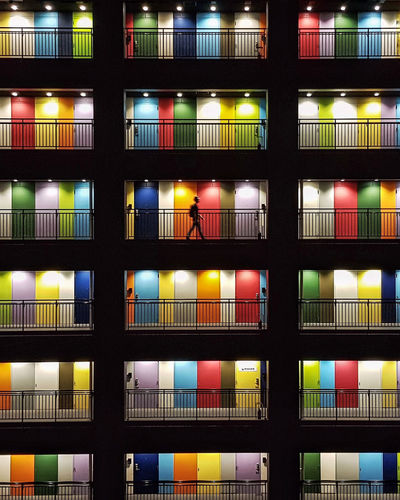 Choices Doorsworldwide Illuminated Black Background Architecture Close-up Tokyo Streetphotography Choices Colorfull One Person Walking The Week On EyeEm AI Now