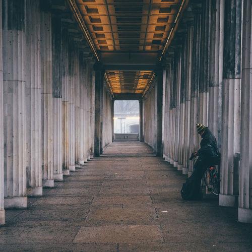 Corridor in sunlight