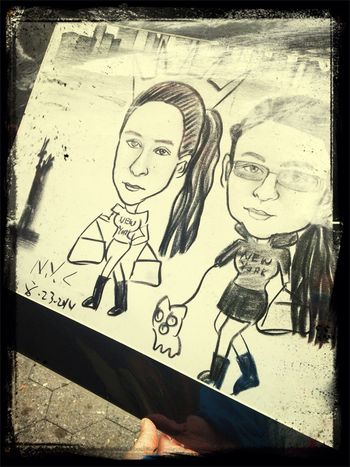Mine and my sis portrait in ny