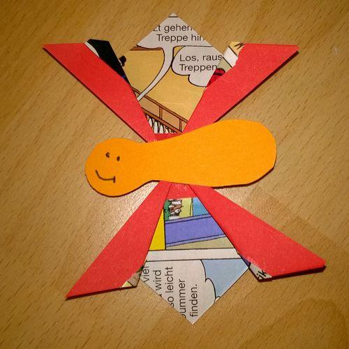 Schmetterling Butterfly Origami Gefaltet Folded