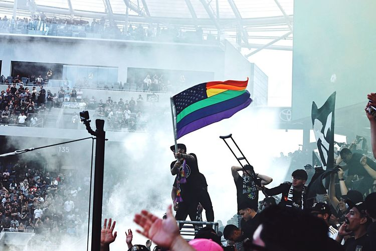 loud and proud Pride Pride Flag Crowd Group Of People Real People Large Group Of People Enjoyment Arts Culture And Entertainment Love Is Love