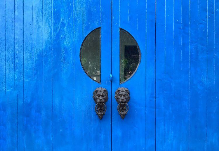 Blue door Blue