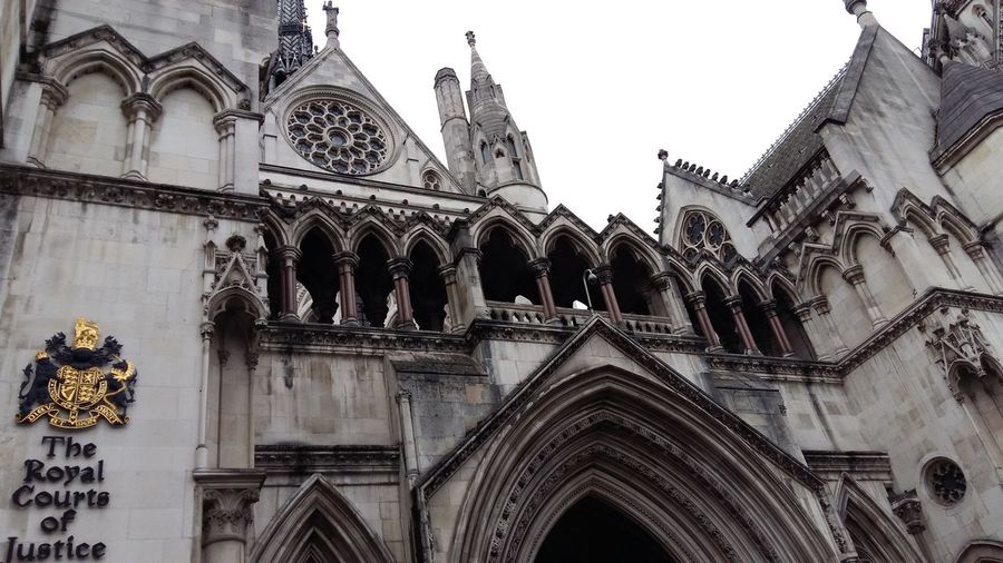 Citiscape  London Royal Court Of Justice Architecture Place Of Worship Low Angle View History Ornate Built Structure Arch Travel Destinations No People Outdoors