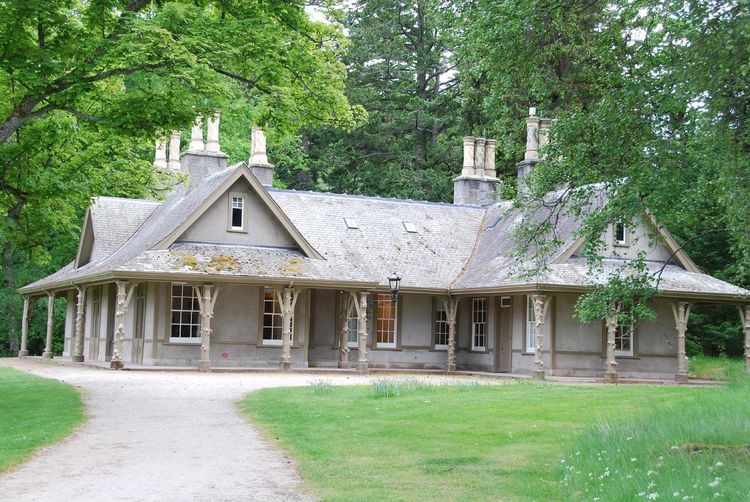 The small cottage - Balmoral Castle, Scotland The Queen Architecture Balmoral Castle Building Exterior Built Structure Day Grass Green Color Growth House Nature No People Outdoors Tree UK Monarchy Victorian Architecture