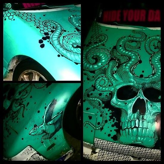 Sharpie Freehand Drawing Check This Out Fullcustomtattoo Mrttattoo Tattooartist  Torstenmatthes do this on a friends car...just for fun...lol