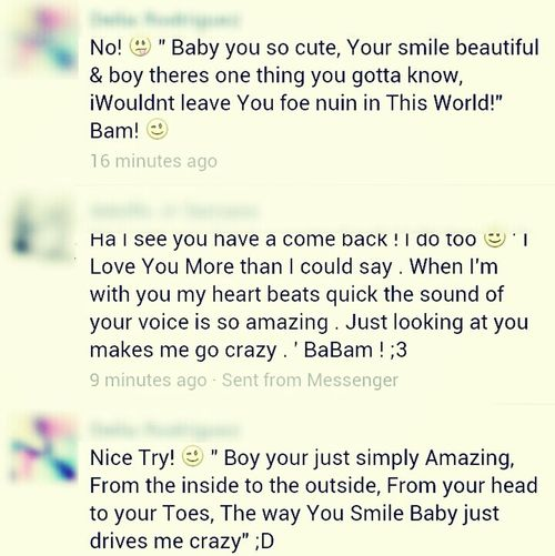 Me & My BoyFriend Convo :) , Seeing Who Comes Up With Better Lyrics! ♥
