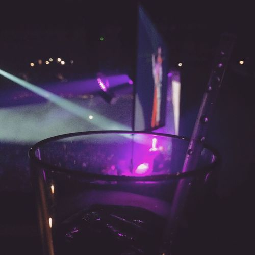 Drink up the music Vip Straw Halsey Concert Halsey Pepsicenter Concert Photography Illuminated Indoors  Night Nightlife Arts Culture And Entertainment Refreshment Drink Purple Music Lighting Equipment Glass Close-up Glowing Light Beam Light - Natural Phenomenon Event