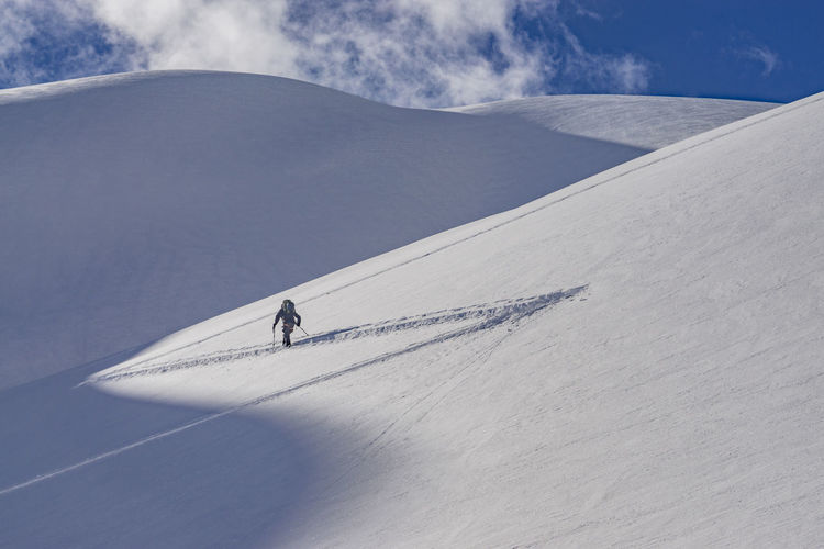Climb Pristine Rugged Ski Touring Skiing Adventure Backcountry Skiing Cold Temperature Extreme Sports Landscape Lone Mountain Outdoors Powder Powder Snow Remote Ski Skintrack Sky Slope Snow Solo Sport Steep Winter Go Higher