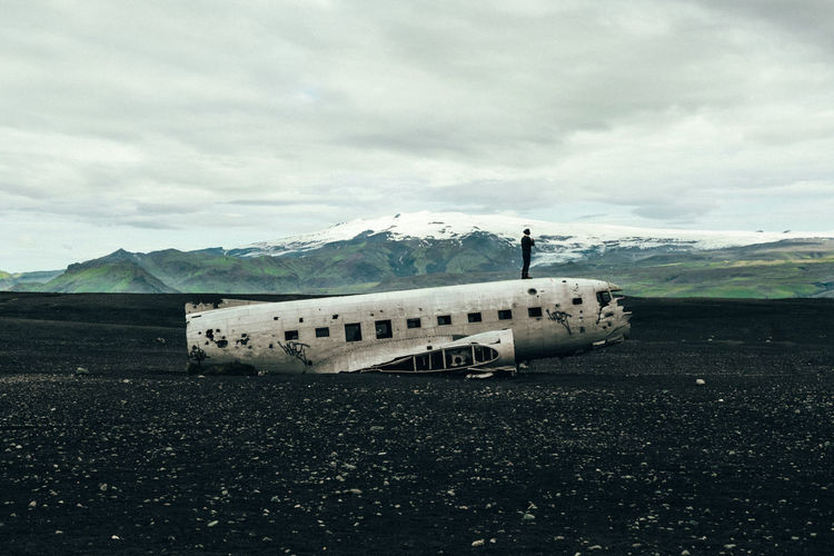 Abandoned Places Iceland The Week On EyeEm Abandoned Air Vehicle Airplane Cloud - Sky Crash Damaged Landscape Military Airplane Mode Of Transport Mountain Mountain Range Nature Outdoors Scenics Sky Transportation Travel Winter Done That. Lost In The Landscape Go Higher The Traveler - 2018 EyeEm Awards