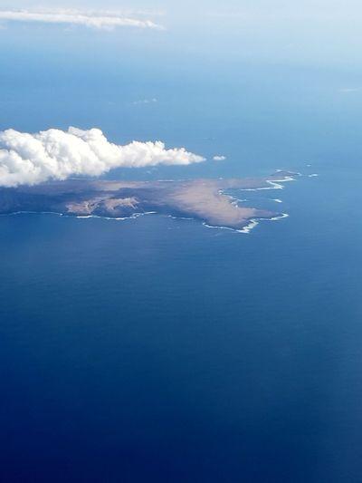 Water Sea Blue Beach Beauty Social Issues Sky Cloud - Sky Horizon Over Water Tide Airplane Wing Coast Coastal Feature Coastline Ocean Calm Rocky Coastline