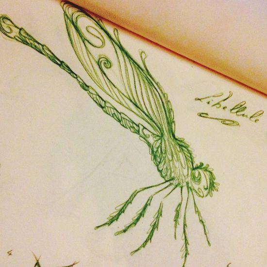 Pour les cours de stylisation.. Draw Drawing Libellule Insect