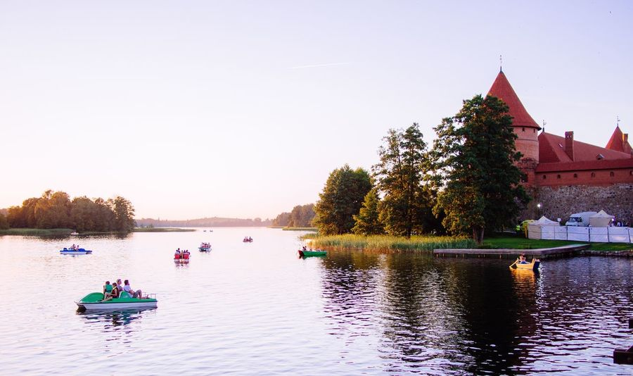 Trakai Trakai Sunset Trakai Lakes Trakai, Lithuania Trakai Island Castle Trakai Castle Trakai Red Brick Wall Castle Tower Castle Lake Tree Water Architecture Sunset Outdoors Building Exterior Clear Sky Built Structure Nature Sky Beauty In Nature