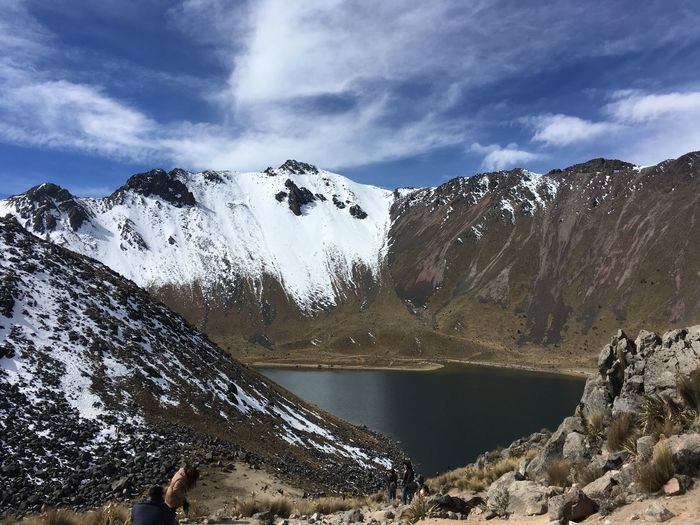 Laguna del Sol | Mexico | Winter 2018 Water Sky Cloud - Sky Beauty In Nature Scenics - Nature Nature Mountain Day Tranquility No People Rock Non-urban Scene Lake Tranquil Scene Solid Winter Rock - Object Outdoors Idyllic Snow