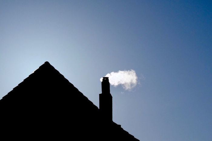 Kamin Contrast Kontrast Architecture Built Structure Low Angle View Building Exterior Chimney No People Smoke Stack
